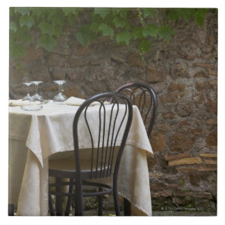 romantic table for two large square tile