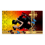 Romantic tango dancers on damask Double-Sided standard business cards (Pack of 100)