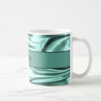 Romantic Teal Satin Coffee Mug