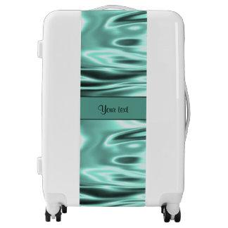 Romantic Teal Satin Luggage