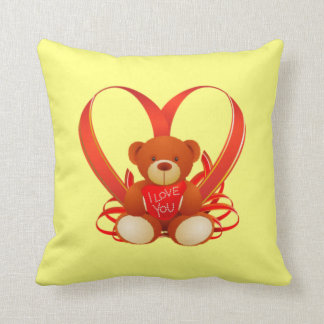 Romantic Teddy Bear Pillow , I love you