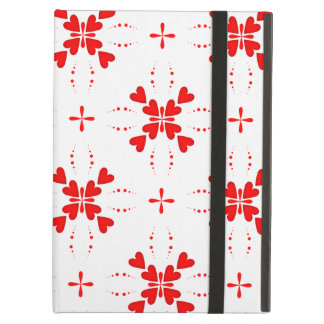 Romantic Tiled Red Love Heart Pattern Case For iPad Air