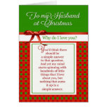 Romantic - To my Husband at Christmas Card