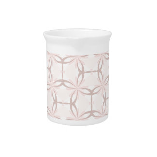 Romantic Tracery in Pink Pitcher