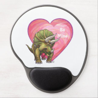 Romantic Triceratops Be Mine Gel Mouse Pad