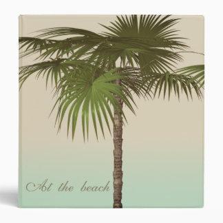 Romantic Tropical Palm Tree Binder