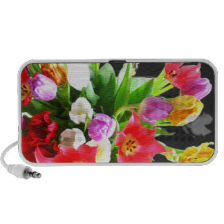 Romantic Tulip Flowers Mp3 Speakers