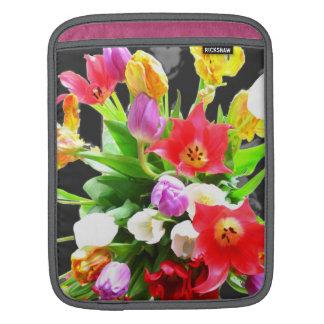Romantic Tulips Flower Sleeve For iPads