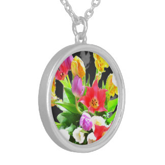 Romantic Tulips Flowers Personalized Necklace