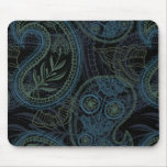 Romantic Turquoise, Blue & Green Paisley Mouse Pad