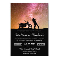 Romantic Twilight Galaxy Couple Wedding Invitation