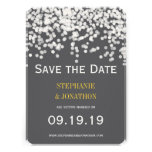 Romantic Under the Stars Yellow Gray Save the Date Invitations
