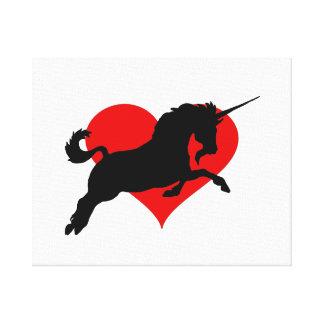 Romantic Unicorn Canvas Print