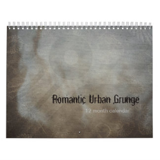 Romantic Urban Grunge Textures Photo Frames Calendar