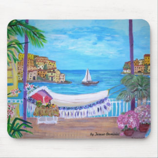 Romantic Vacation Painting Mousepad