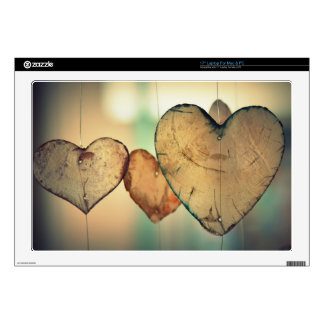 Romantic Valentine day love hearts Laptop Skin