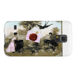 ROMANTIC VALENTINE LETTER ,RED WAX SEAL CASE FOR GALAXY S5