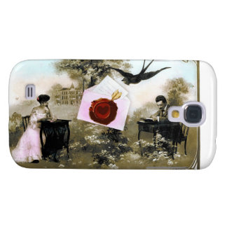 ROMANTIC VALENTINE LETTER ,RED WAX SEAL GALAXY S4 CASE