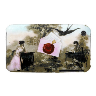 ROMANTIC VALENTINE LETTER ,RED WAX SEAL iPhone 3 COVER