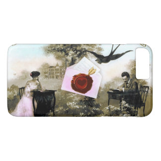 ROMANTIC VALENTINE LETTER ,RED WAX SEAL iPhone 7 PLUS CASE