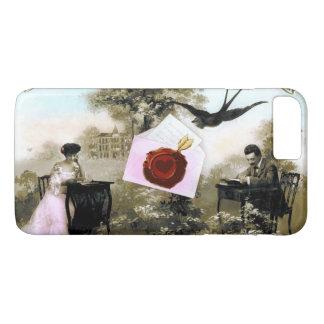ROMANTIC VALENTINE LETTER ,RED WAX SEAL iPhone 8 PLUS/7 PLUS CASE