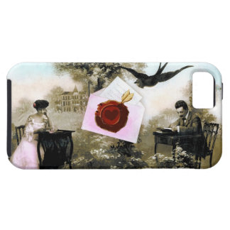 ROMANTIC VALENTINE LETTER ,RED WAX SEAL iPhone SE/5/5s CASE