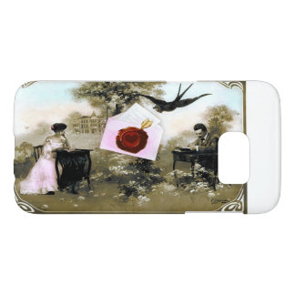 ROMANTIC VALENTINE LETTER ,RED WAX SEAL SAMSUNG GALAXY S7 CASE