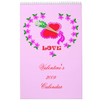 Romantic Valentine's 2009 Calendar