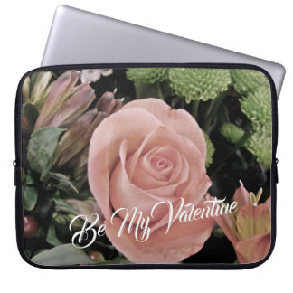 Romantic Valentines Day Light Pink Rose Laptop Sleeve