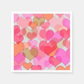 Romantic Valentine's Day Love Valentine Sweetheart Paper Napkin