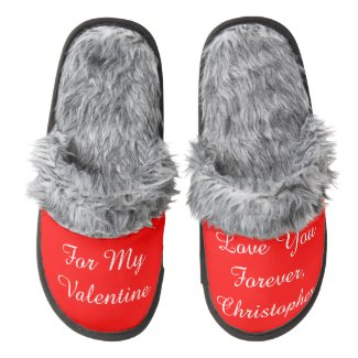 Romantic Valentine's Day Love You Forever Slippers