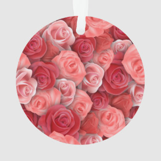 Romantic Valentines day pink and red roses