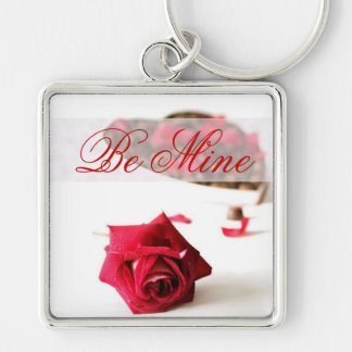 Romantic Valentine's Day Rose and Chocolates Keychain