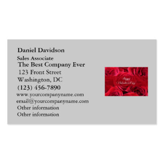 Romantic Valentine's Day Roses Business Card