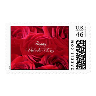 Romantic Valentine's Day Roses Stamps