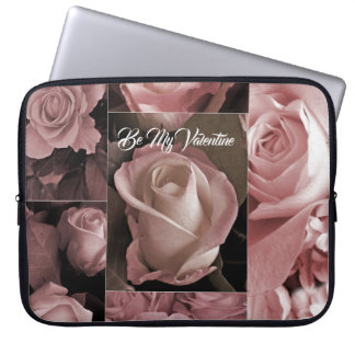 Romantic Valentines Pink Roses Laptop Sleeve
