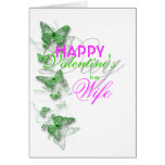 Romantic valentine's wife floral message greeting card