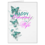 Romantic valentine's wife floral message cards
