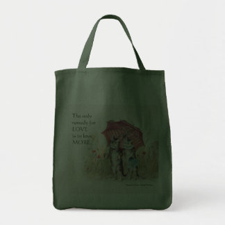 Romantic Victorian Cats and Thoreau Quote Bags