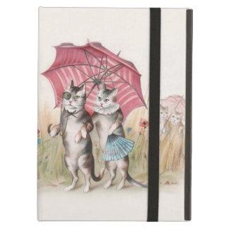 Romantic Victorian Cats iPad Air Case; Vintage Art Case For iPad Air