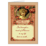 ROMANTIC VICTORIAN ROSES by SHARON SHARPE Greeting Card