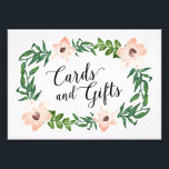 "Romantic Vines Cards and Gifts Print<br><div class=""desc"">Celebrate your next baby shower,  bridal shower or wedding with coordinating event signs! 