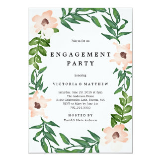 Romantic Vines Engagement Party Invitation