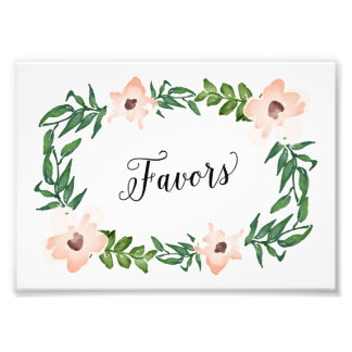 Romantic Vines Favors Print