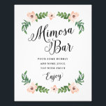 "Romantic Vines Mimosa Bar Print<br><div class=""desc"">Celebrate your next baby shower,  bridal shower or wedding with coordinating event signs! 