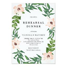 Romantic Vines Rehearsal Dinner Invitation