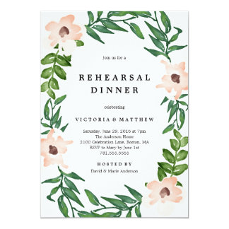 Romantic Vines Rehearsal Dinner Invitation
