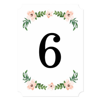 Romantic Vines Table Numbers