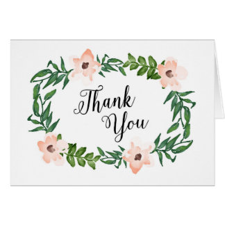 Romantic Vines Thank You Note Card