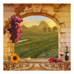 Romantic Vineyard (Wedding) Vintage Painting Art Photo